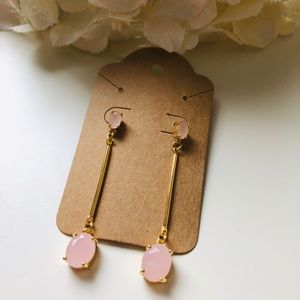 Jewelry - 18K Gold Plated Baby Pink Earrings